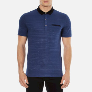 HUGO Men's Desaro Contrast Collar Polo Shirt - Royal Blue