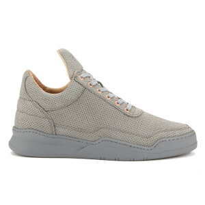 Filling Pieces Men's Perforated Low Top Trainers - Alam Grey