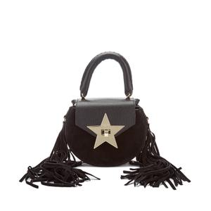 SALAR Women's Mimi Fringe Bag - Black