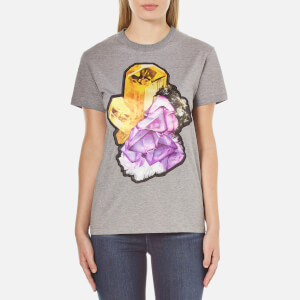 Carven Women's Printed T-Shirt - Grey