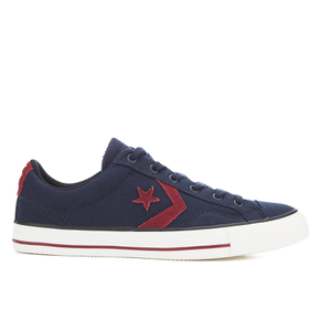 Converse CONS Men's Star Player Canvas Ox Trainers - Obsidian/Red Block/Black