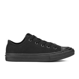 Converse Kids Chuck Taylor All Star II Tencel Canvas Ox Trainers - Black Monochrome