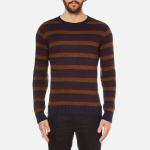 Oliver Spencer Men's Ola Crew Neck Jumper - Caramel Multi