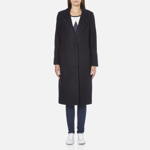 Maison Scotch Women's Longer Length Tailored Coat - Navy
