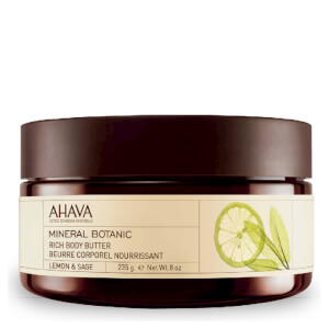 AHAVA Mineral Botanic Rich Body Butter - Lemon and Sage