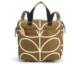 Orla Kiely Women's Linear Stem Print Small Backpack - Camel