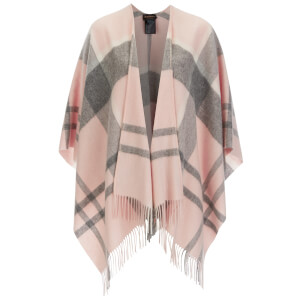 Barbour Women's Tonal Tartan Serape Cape - Pink/Grey
