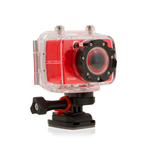 Nabi Look 1080p HD Camcorder & Accessories (5MP Camera) - Red