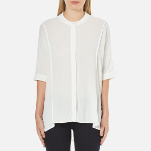 Selected Femme Women's Brissa Short Sleeve Shirt - Snow White