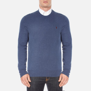 Polo Ralph Lauren Men's Crew Neck Merino Knitted Jumper - Shale Blue Heather