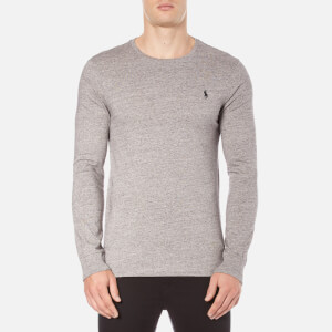 Polo Ralph Lauren Men's Long Sleeve Crew Neck Custom Fit T-Shirt - Dark Vintage