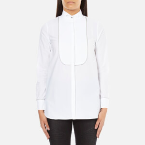 Karl Lagerfeld Women's Plastron Tunic Shirt - White