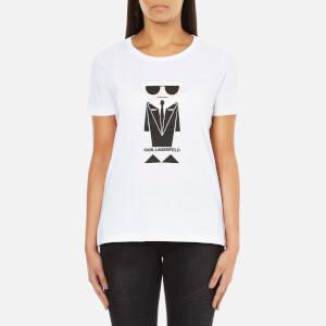 Karl Lagerfeld Women's Kocktail Karl T-Shirt - White