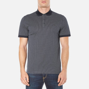 Michael Kors Men's Dot Diamond Print Polo Shirt - Midnight