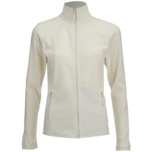 The North Face Women's 100 Glacier Full Zip Fleece - Vintage White
