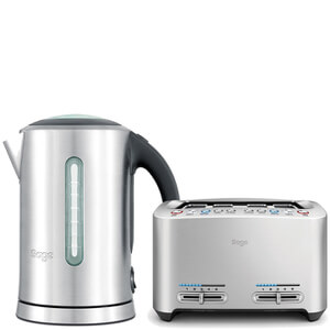 Sage by Heston Blumenthal The Smart Toast 4 Slice Toaster & Kettle Bundle
