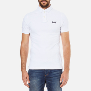 Superdry Men's Classic Pique Short Sleeve Polo Shirt - Optic