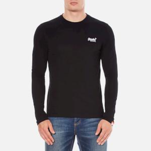 Superdry Men's Orange Label Long Sleeve Top - Black