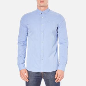 Superdry Men's Long Sleeve Button Down Shirt - Fine Stripe Ice Blue