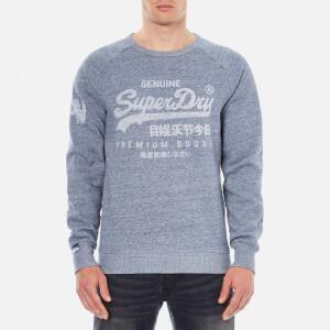 Superdry Men's Classics True Indigo Crew Sweatshirt - Raw Indigo