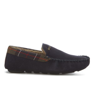 Barbour Men's Monty Suede Moccasin Slippers - Navy
