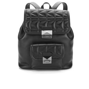 Karl Lagerfeld Women's K/Kuilted Backpack - Black/Black