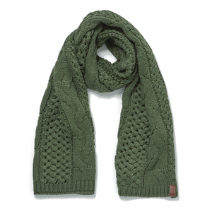 Superdry Women's North Cable Scarf - Olive