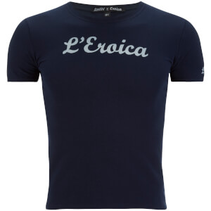 Santini L'Eroica Kids' Stretch Cotton T-Shirt - Dark Blue