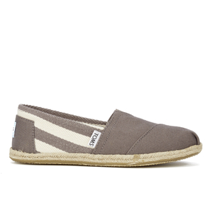 TOMS Women's University Classics Slip-On Pumps - Dark Grey Stripe