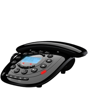 Idect CARRERACLASSICPLUS Corded Phone with Answer Machine - Black