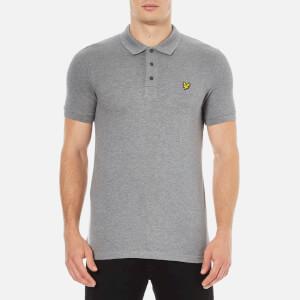 Lyle & Scott Men's Short Sleeve Polo Shirt - Mid Grey Marl