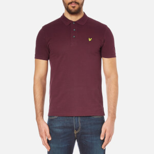 Lyle & Scott Men's Short Sleeve Polo Shirt - Claret Marl