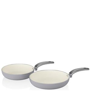 Swan Retro Frying Pans - Grey (20cm/28cm)