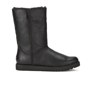 UGG Women's Michelle Leather Classic Slim Sheepskin Boots - Black