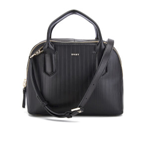 DKNY Women's Gansevoort Pinstripe Small Satchel - Black