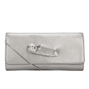 Versus Versace Women's Clutch Bag - Dark Silver/Silver