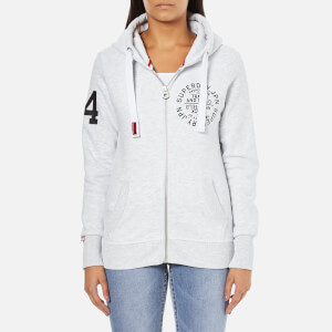 Superdry Women's Track And Field Zip Hoody - Ice Marl