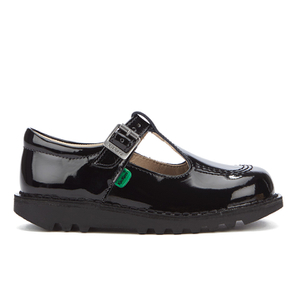 Kickers Kids' Kick T Patent Flat Shoes - Black