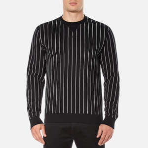 Edwin Men's Classic Crew Sweatshirt - Black Vertical Stripes