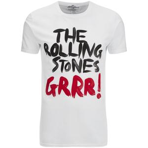 Rolling Stones Mens Logo GRRR! T-Shirt - Wit
