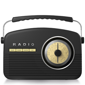 Akai A60010DAB DAB Retro Radio - Black