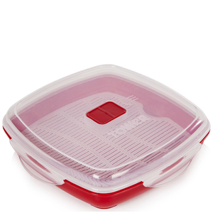 Tower T90811R Microwave Plate 880ml - Red