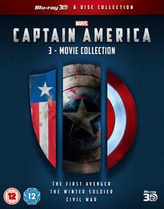 Captain America 1-3 Boxset 3D