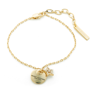 Marc Jacobs Women's MJ Coin Bracelet - Crystal/Antique Gold