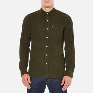 Levi's Men's Sunset 1 Pocket Shirt - Olive Night Melange