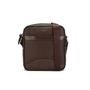 Ted Baker Men's Isaac Embossed Flight Bag - Chocolate