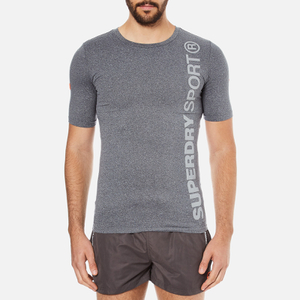 Superdry Men's Gym Sport Runner T-Shirt - Grey Grit
