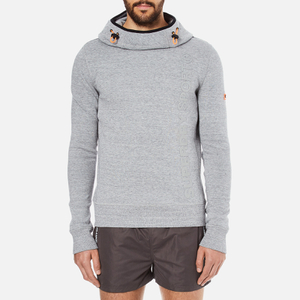 Superdry Men's Gym Tech Funnel Hoody - Grey Grit