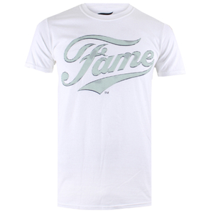 Fame Mens Logo T-Shirt - Wit