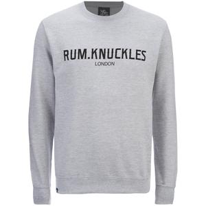 Rum Knuckles Mens London Crew Neck Sweatshirt - Lichtgrijs